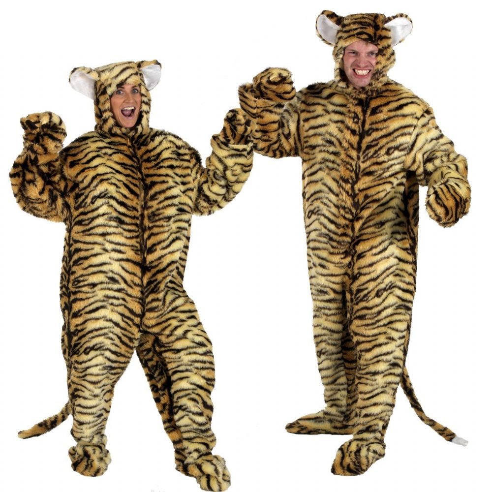 Adults Mens And Ladies Fur Wild Jungle Tiger Fancy Dress